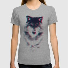 Act like a wolf. Womens Fitted Tee SMALL Tri-Grey