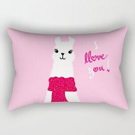 Llama Llove You Rectangular Pillow