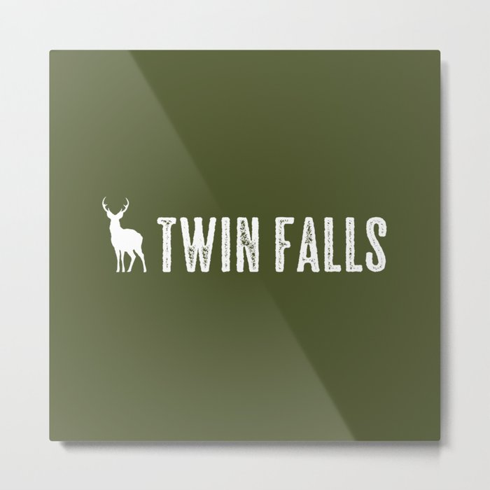 Deer: Twin Falls, Idaho Metal Print
