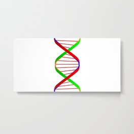DNA Twin Spiral Metal Print