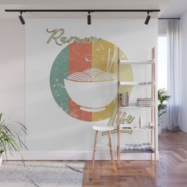 Ramen Life Japanese Noodles Vintage Retro Style Japan Japanese Food Wall Mural
