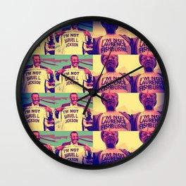Is It Jackson Or Fishburne? Wall Clock