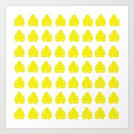 Golden Yellow Asian Moods Buddha Boys Art Print