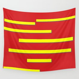 Bright Red and Bright Yellow Graphic Design Wall Tapestry