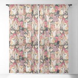 Because Shiba Inu Sheer Curtain