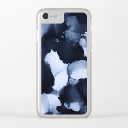 BLUE INK 22 Clear iPhone Case