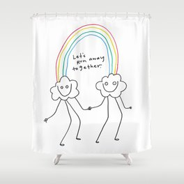 Runaway Rainbow Shower Curtain