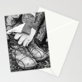 Manual Labor - Firewood 2 Stationery Cards