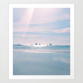 White Beach Boracay Art Print
