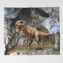 T Rex Classic Throw Blanket