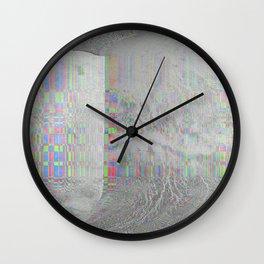 04-24-14 (Pink Cloud Bitmap Glitch) Wall Clock