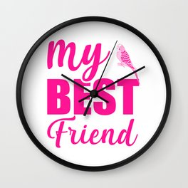My Best Friend Is A Budgie mag Wall Clock