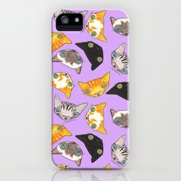 """Oro?"" Cats-Lavender iPhone Case"