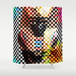 Punk Pharoah Tutenrocken Shower Curtain