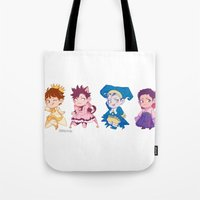 johannathemad Tote Bags featuring CCS captains by JohannaTheMad