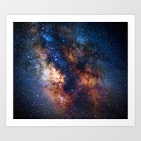 milky way Art Prints featuring Milky Way by Zavu