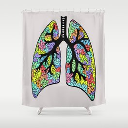 Psychedelic Lungs  Shower Curtain