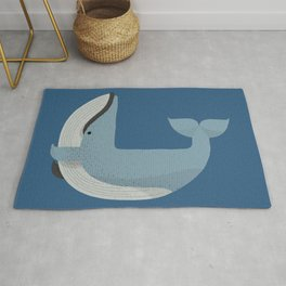 Whimsy Blue Whale Rug