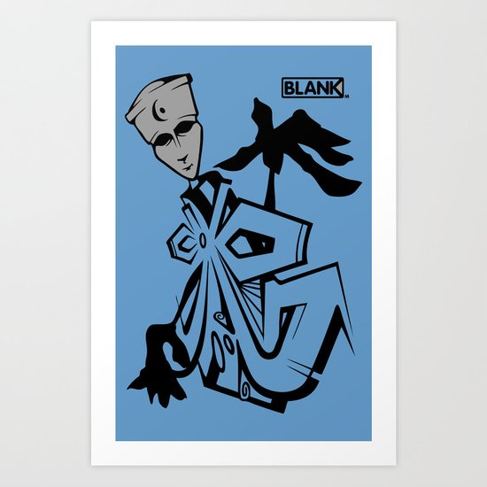 BLANKM GEAR - BLUEMAN T SHIRT Art Print