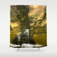 rocks Shower Curtains featuring Rocks by nicky2342