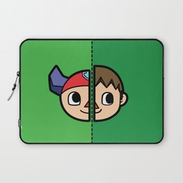 Old & New Animal Crossing Villager Comparison Laptop Sleeve