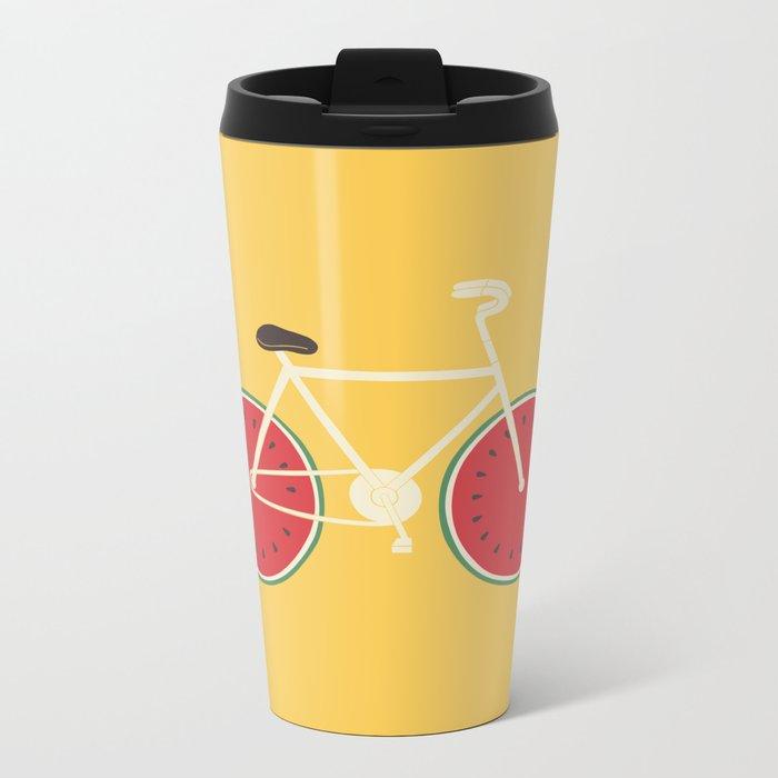 watermelon bike Metal Travel Mug