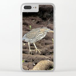 bird under the tree Clear iPhone Case