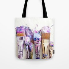 Six Dirty Paintbrushes (Photo) Tote Bag