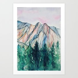 Over the trees Art Print