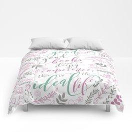 Ideal Life - Mark Twain quote Comforters