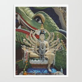 Guanyin Goddess with Pearls Poster
