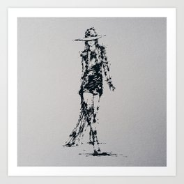 Splaaash Series - Fashion Walk Ink Art Print