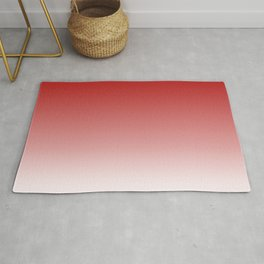 Deep Red White Color Gradient Rug