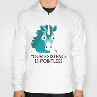 mythology Hoodies featuring Neigh Sayer by David Olenick