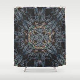 Purple Black Lime Design Shower Curtain