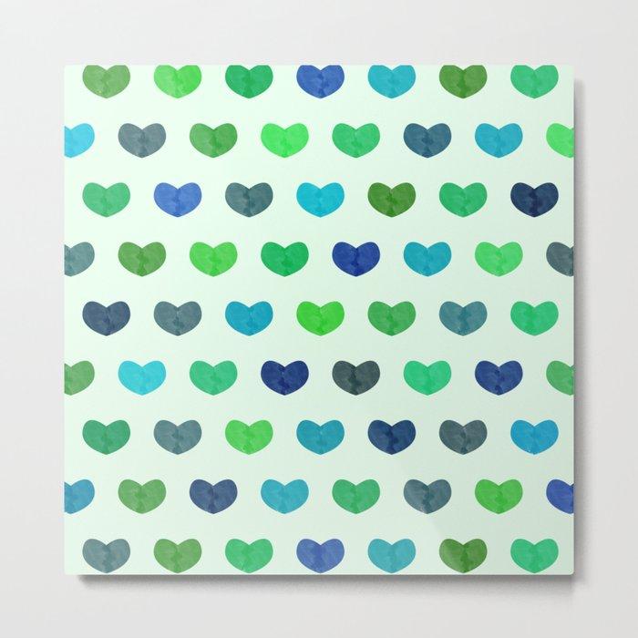 Colorful Cute Hearts Metal Print