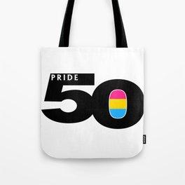 50 Pride Pansexual Pride Flag Tote Bag