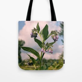 Healing Comfrey Plant with Flowers Tote Bag