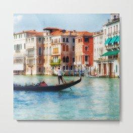 Grand Canal Gondola Metal Print