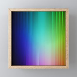 Showering Streaks of Rainbows Framed Mini Art Print