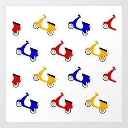 Scooter Pattern Art Print