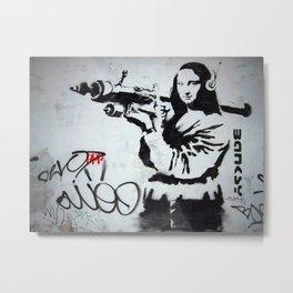 Bansky Mona Lisa Boozoka Metal Print