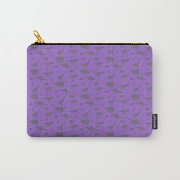 Grey Dinosaurs Carry-All Pouch