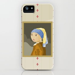 Girl with pearl by Vermeer  iPhone Case