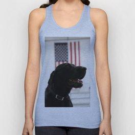 All-American Black Labrador Unisex Tank Top