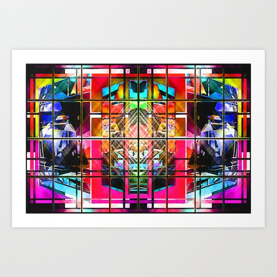 3-D-GEOMETRY AND COLOR. Art Print