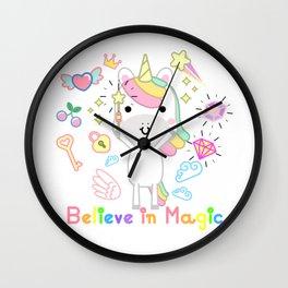 Unicorn - Believe in magic Wall Clock