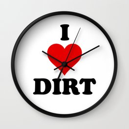 I Heart Dirt Wall Clock