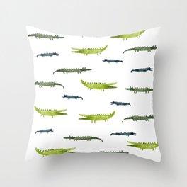 Friendly Croco Throw Pillow