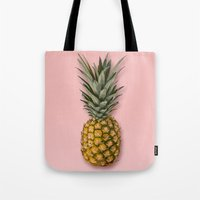pineapple Tote Bags featuring Pineapple by Marta Li